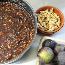 Confiture figues et noix