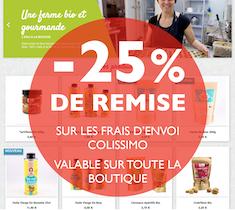 EXCLU : -25% sur vos frais d'envoi Colissimo sur toute notre boutique !