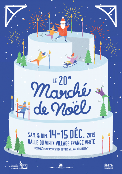Marché de Noël d'Echirolles, les 14 et 15 décembre 2019