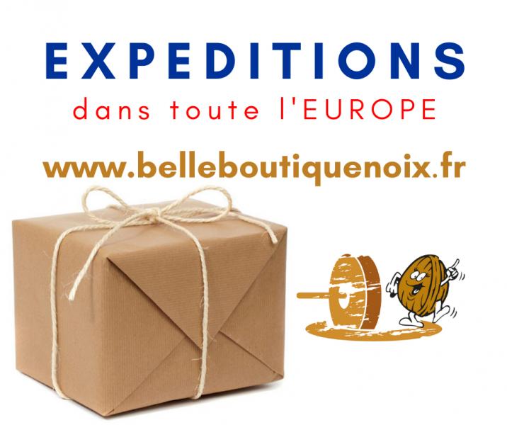 La Belle Boutique Noix expédie en Europe !