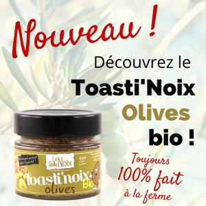 Découvrez le Toasti'Noix Olives bio !